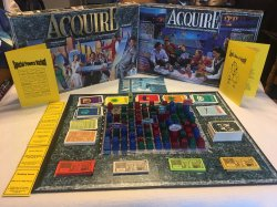 1993 Schmidt Spiele Elegant German ACQUIRE in Unplayed Condition With Lloyd's Rules