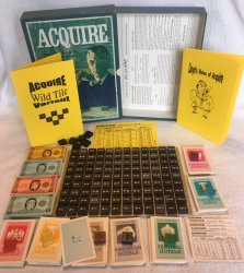 1962/63 Wood Tile ACQUIRE Game Unplayed Condition With Wild Tile & Special Powers Kits and Lloyd's Rules