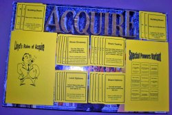 ACQUIRE (2) Kit Set - Special Powers Variant Kit, Wood Wild Tile Variant Kit, & Lloyd's Rules for 1962/63 ACQUIRE