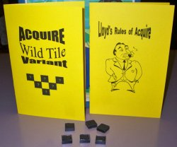 ACQUIRE (2) Kit Set - Special Powers Variant Kit, Plastic Wild Tile Kit, & Lloyd's Rules for 1962-1976 Editions of ACQUIRE