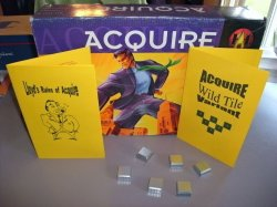 ACQUIRE (2) Kit Set - Special Powers Variant Kit, Wild Tile Variant Kit, & Lloyd's Rules for 1999 Hasbro Editions of ACQUIRE