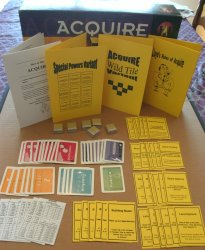 ACQUIRE (3) Kit Set - Special Powers Kit, 1963 World Map Conversion Kit, Wild Tile Kit, & Lloyd's Rules for 1999 Hasbro Editions