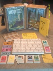 Custom Ceramic Tile ACQUIRE Game with Lloyd's Rules of ACQUIRE