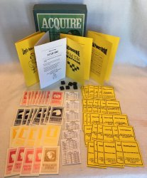 ACQUIRE (3) Kit Set - Special Powers Variant Kit, 1963 World Map Conversion Kit, Plastic Wild Tile Variant Kit, & Lloyd's Rules