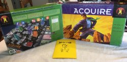 ACQUIRE Used Game Box for the 1999 Hasbro Edition of ACQUIRE