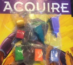 Full Set of (7) Seven Corporation Markers for 1999 Hasbro Editions of ACQUIRE