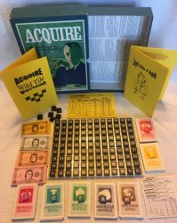 1968/66 ACQUIRE Game Not Played W/Lloyd's Rules & Wild Tile