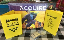 1999 Hasbro ACQUIRE Game, Brand New and Shrink-Wrapped, with a Wild Tile Kit and Lloyd's Rules of ACQUIRE