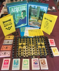 1976/77 ACQUIRE Game Not Played Condition Tiles Still on Trees With Wild Tile Kit and Lloyd's Rules of ACQUIRE