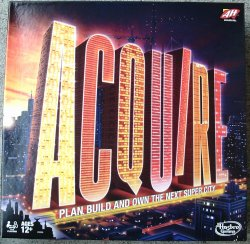 2016 Hasbro ACQUIRE Game, Brand New and Shrink-Wrapped, with Lloyd's Rules of ACQUIRE
