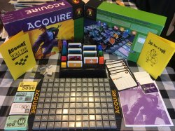 1999 Hasbro ACQUIRE Game, Unplayed Condition, with a Wild Tile Kit and Lloyd's Rules of ACQUIRE