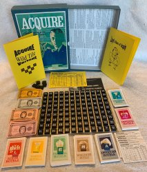 1968/66 ACQUIRE Game Unplayed Condition W/Lloyd's Rules & Wild Tile