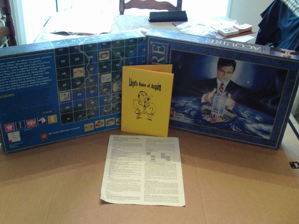 Empty Box for the 1995 Game of ACQUIRE
