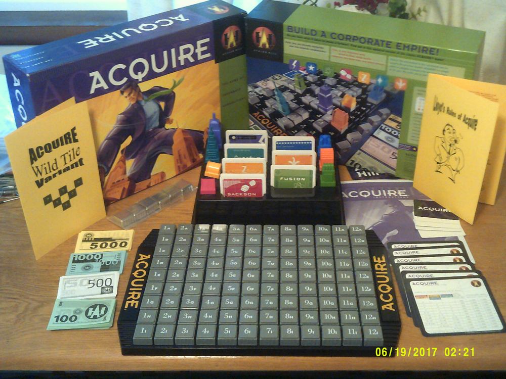 1999 ACQUIRE Game Slightly Played Condition W/Lloyd's Rules & WT