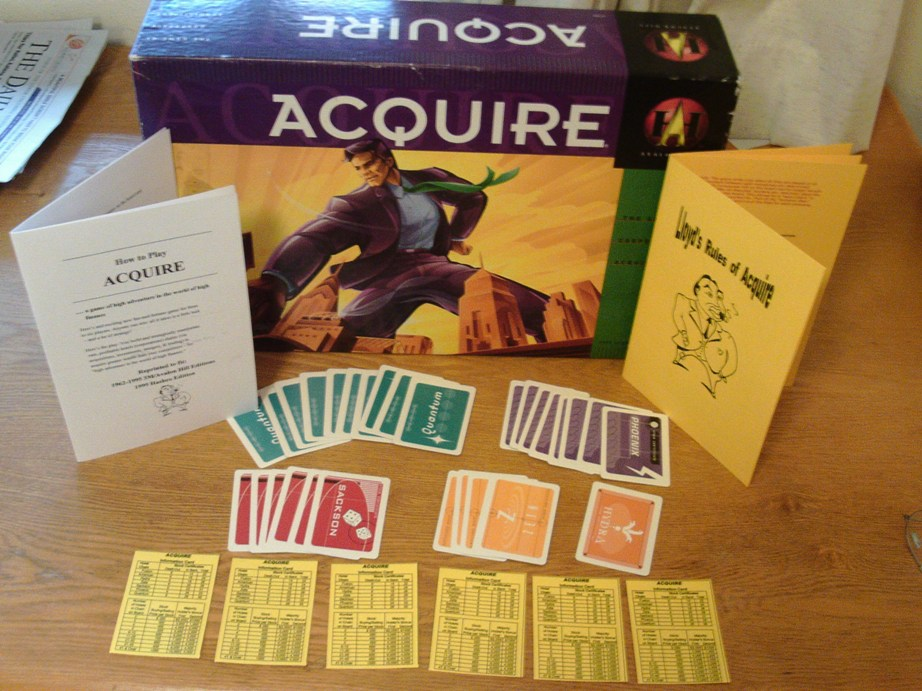 1963 World Map Conversion Kit for 1999 Hasbro editions of ACQUIRE