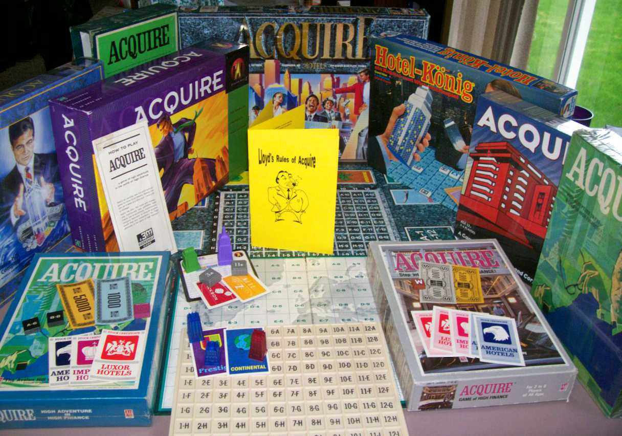 Vintage ACQUIRE Games with Lloyd's Rules of Acquire