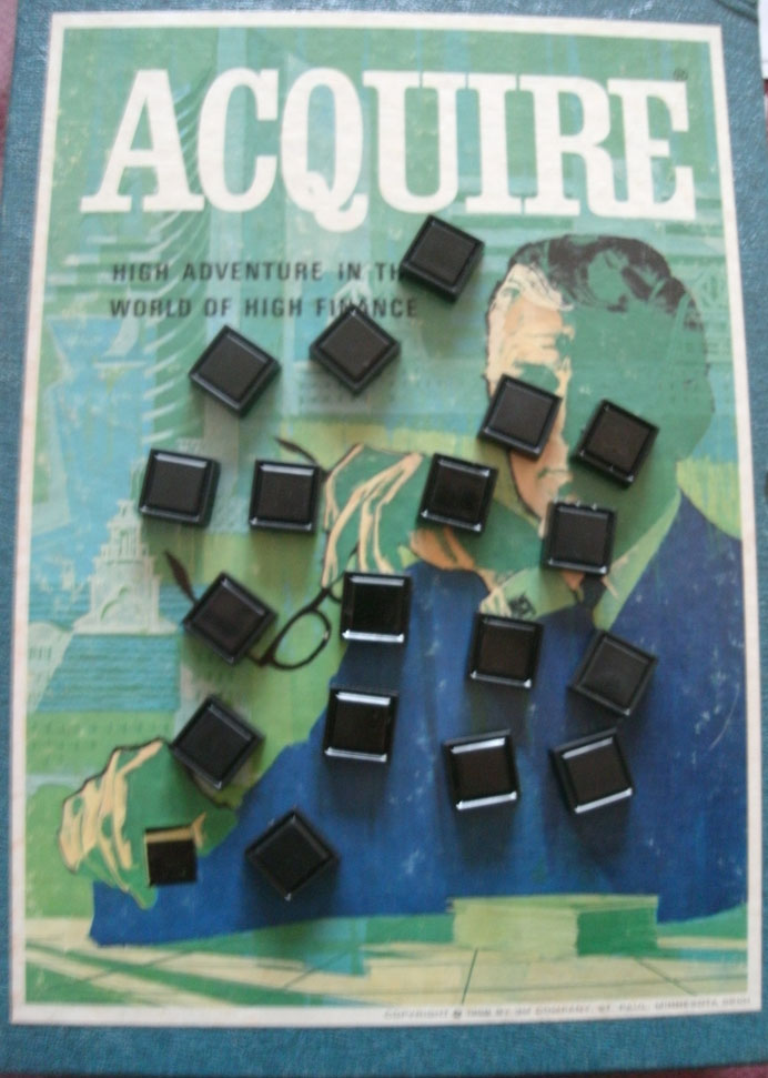 Blank Plastic Tiles for ACQUIRE