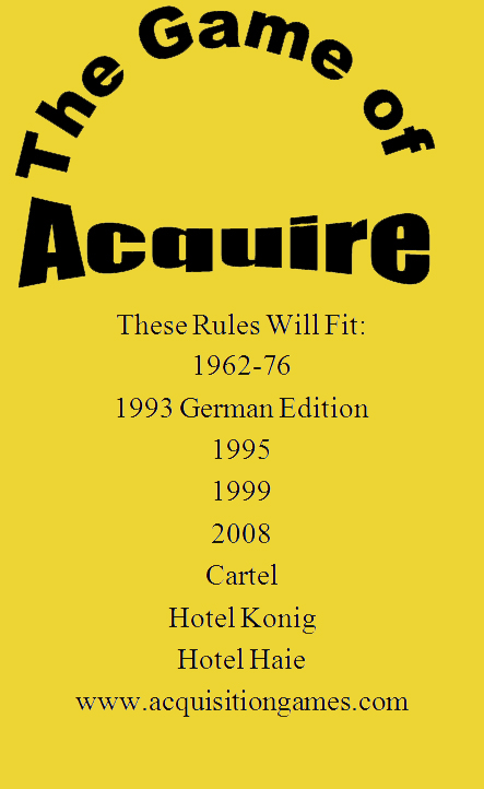 Lloyd's Rules of ACQUIRE