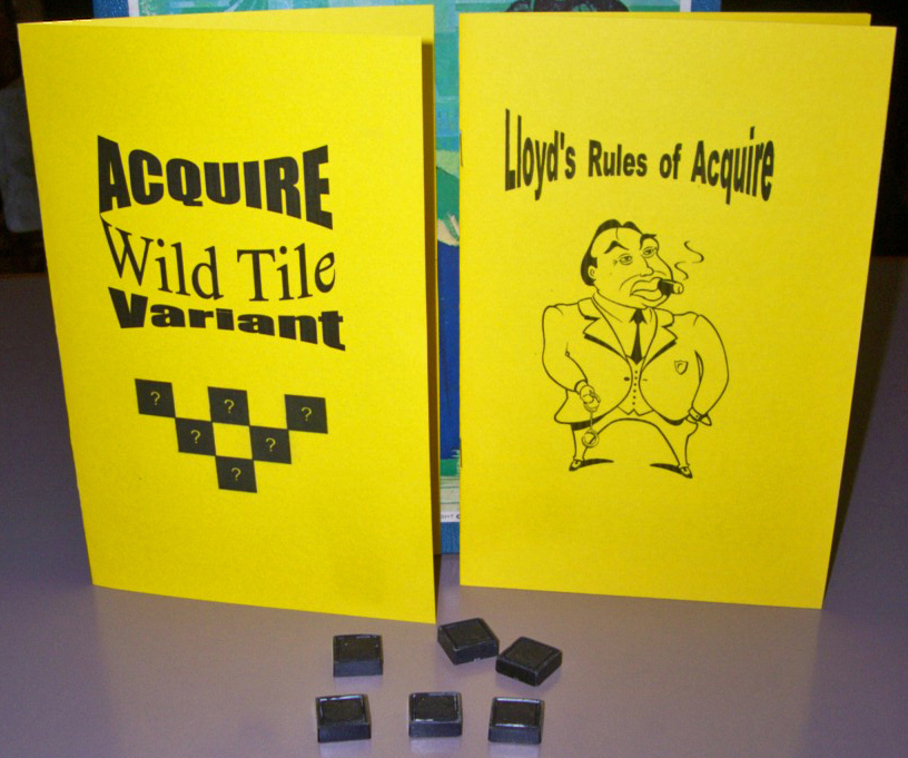 ACQUIRE Plastic Wild Tile Variant Kit and Lloyd's Rule of ACQUIRE