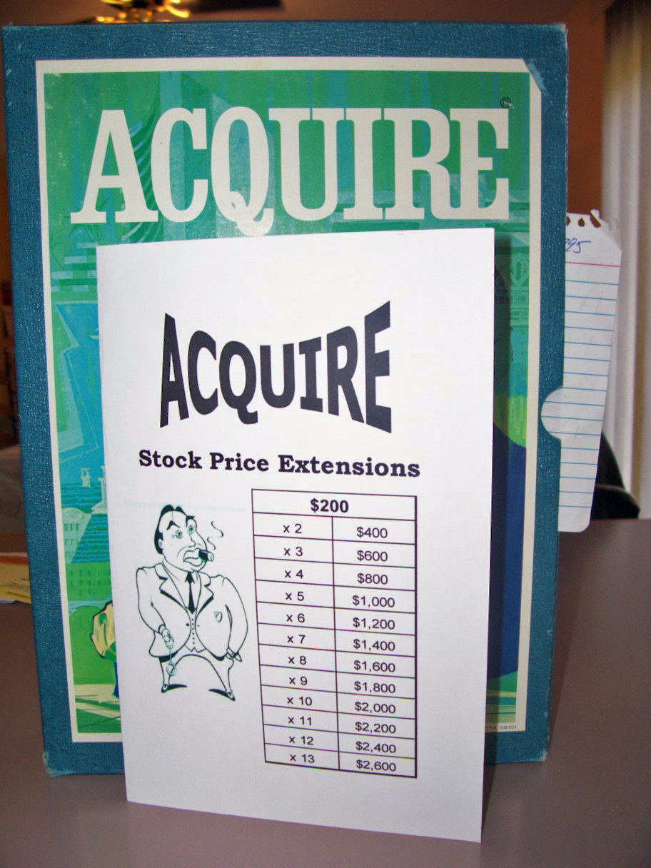 ACQUIRE Stock Price Extension Booklet - Fits All Editions