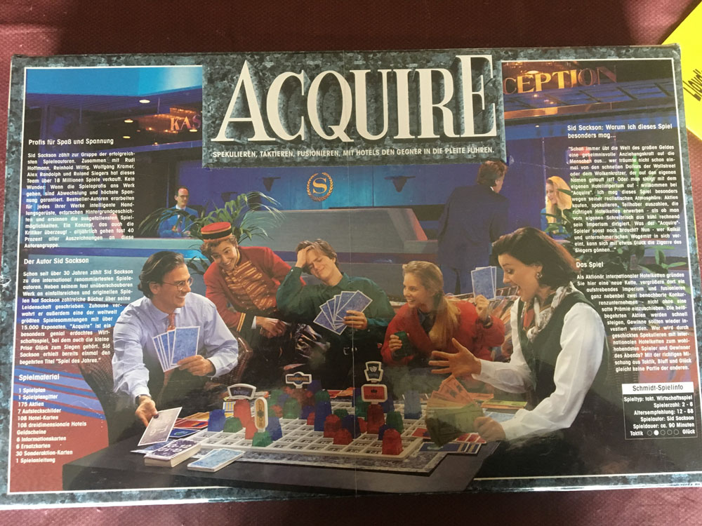 1993 ACQUIRE Schmidt Spiel Edition