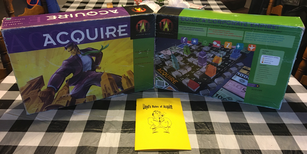 1999 ACQUIRE Used Game Box