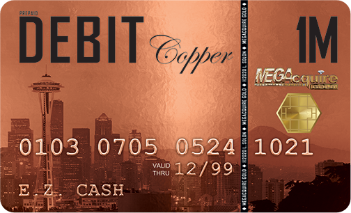 MEGAcquire GOLD Copper Prepaid Debit Card