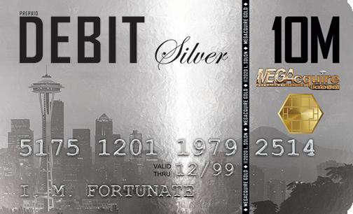 MEGAcquire GOLD Silver Prepaid Debit Card